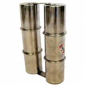 Ganza doble mediana aluminio Contemporanea